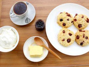 Cranberry Cream Scones