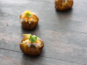 Baked Baby Potatoes with Creamy Tuna Filling
