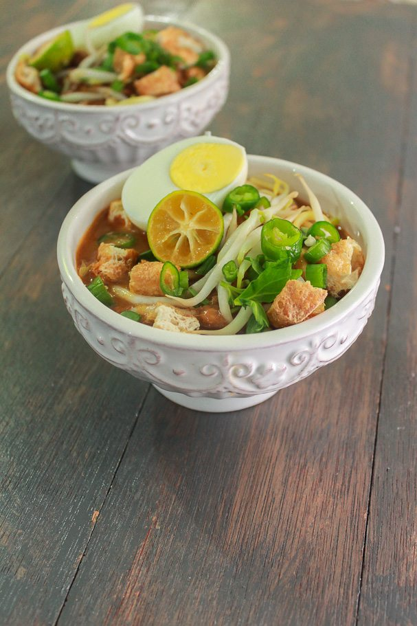 Mee Rebus – Noodles in Sweet Potato Gravy