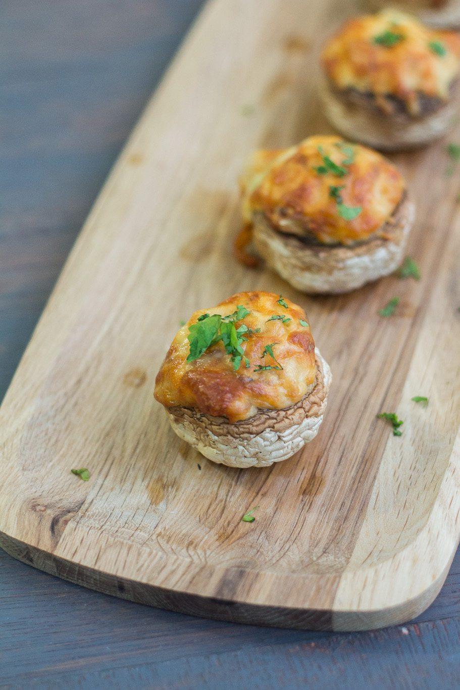 Three Cheese Stuffed Mushrooms