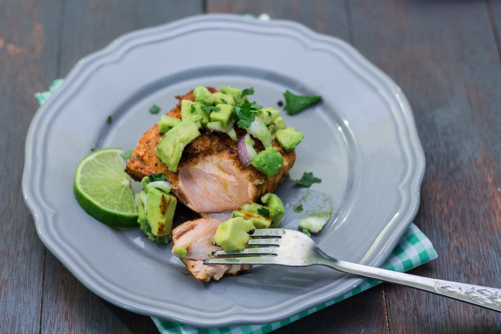 Best Salmon with Avocado Salsa