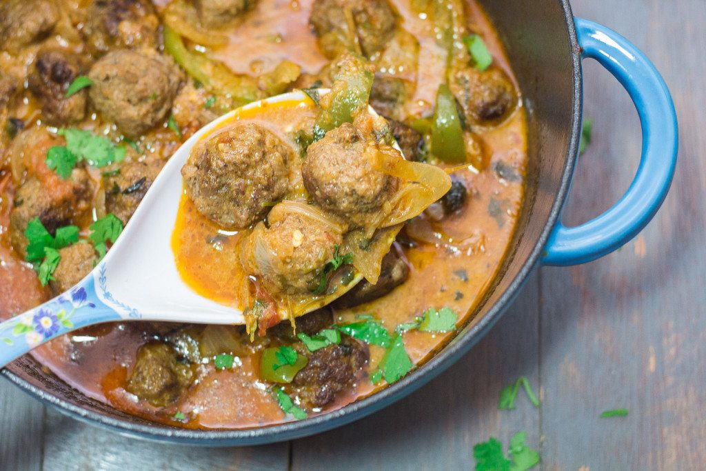 Harissa Meatball Stew