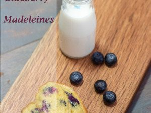 Lemon and Blueberry Madeleines