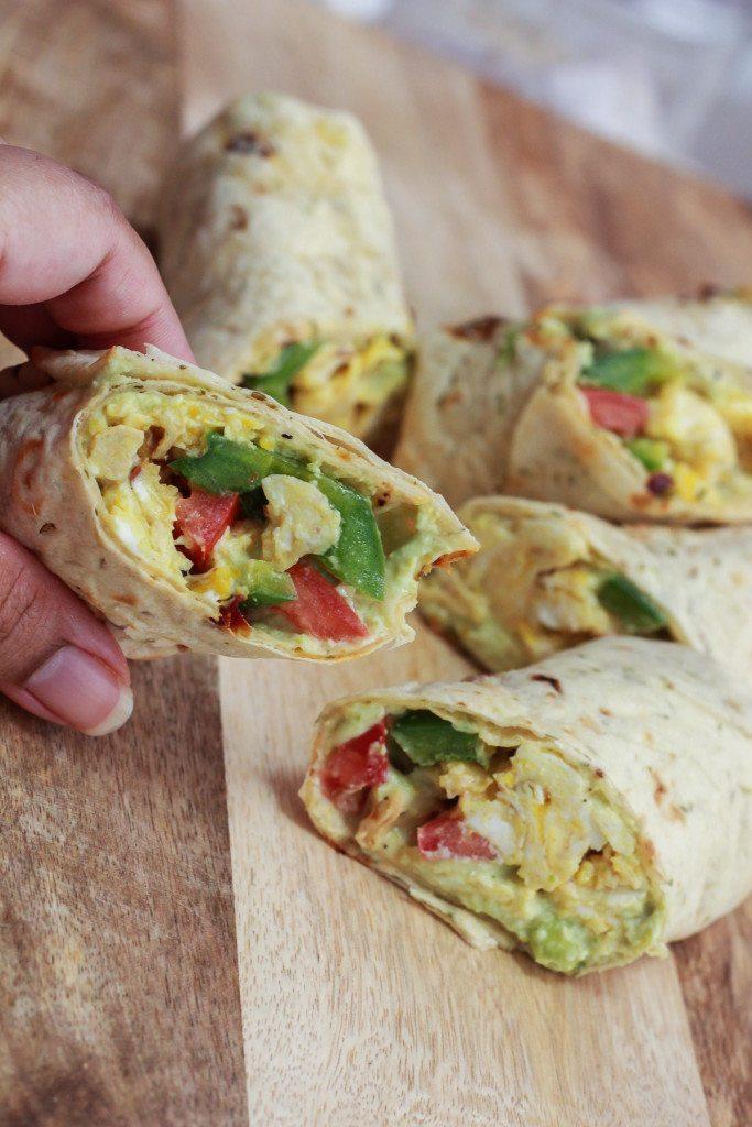 Edamame Hummus and Egg Wrap