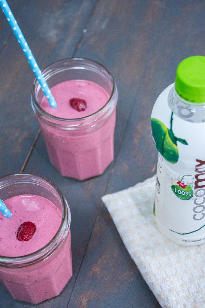 Vegan Raspberry and Coconut Smoothie