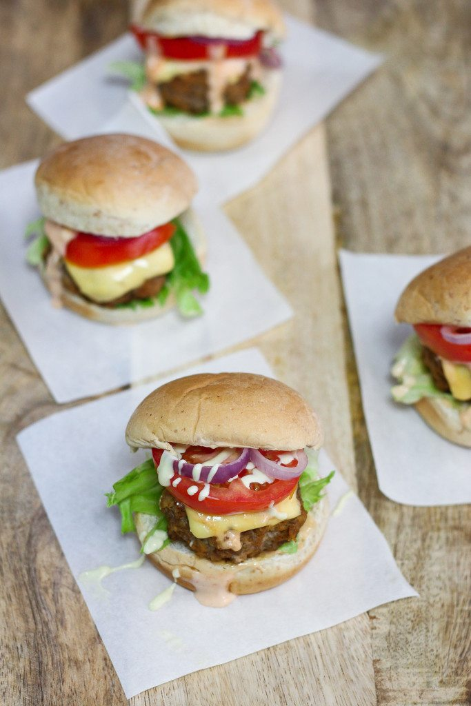 Beef Sliders with Sriracha Mayonnaise