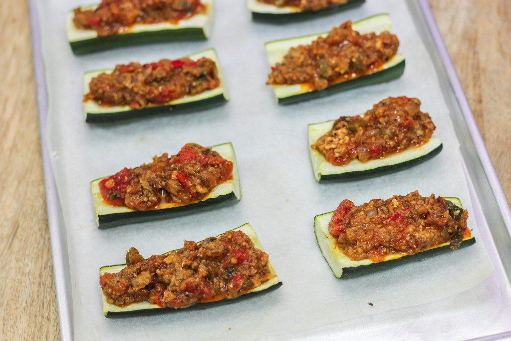 Bolognese Stuffed Zucchini