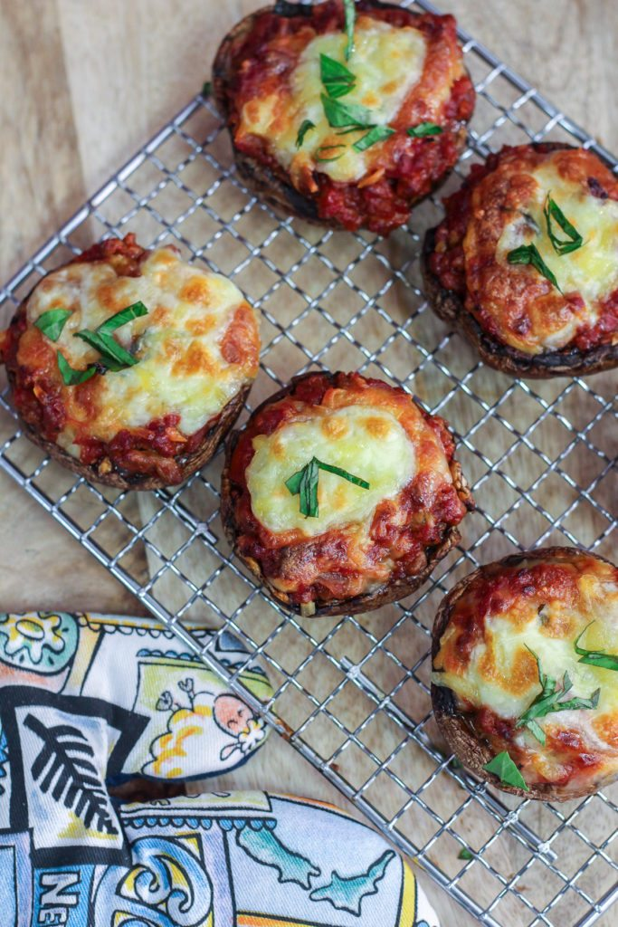 Cheesy Bolognese Stuffed Mushrooms