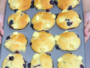 Soft Blueberry Cream Cheese Muffins