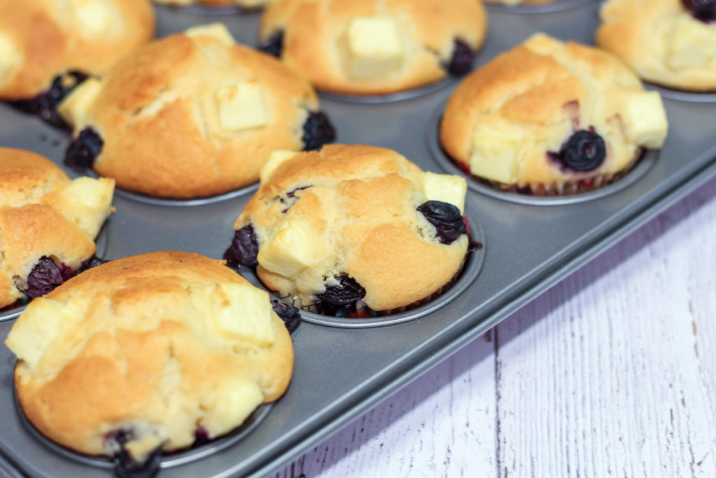 Soft Blueberry Cream Cheese Muffins