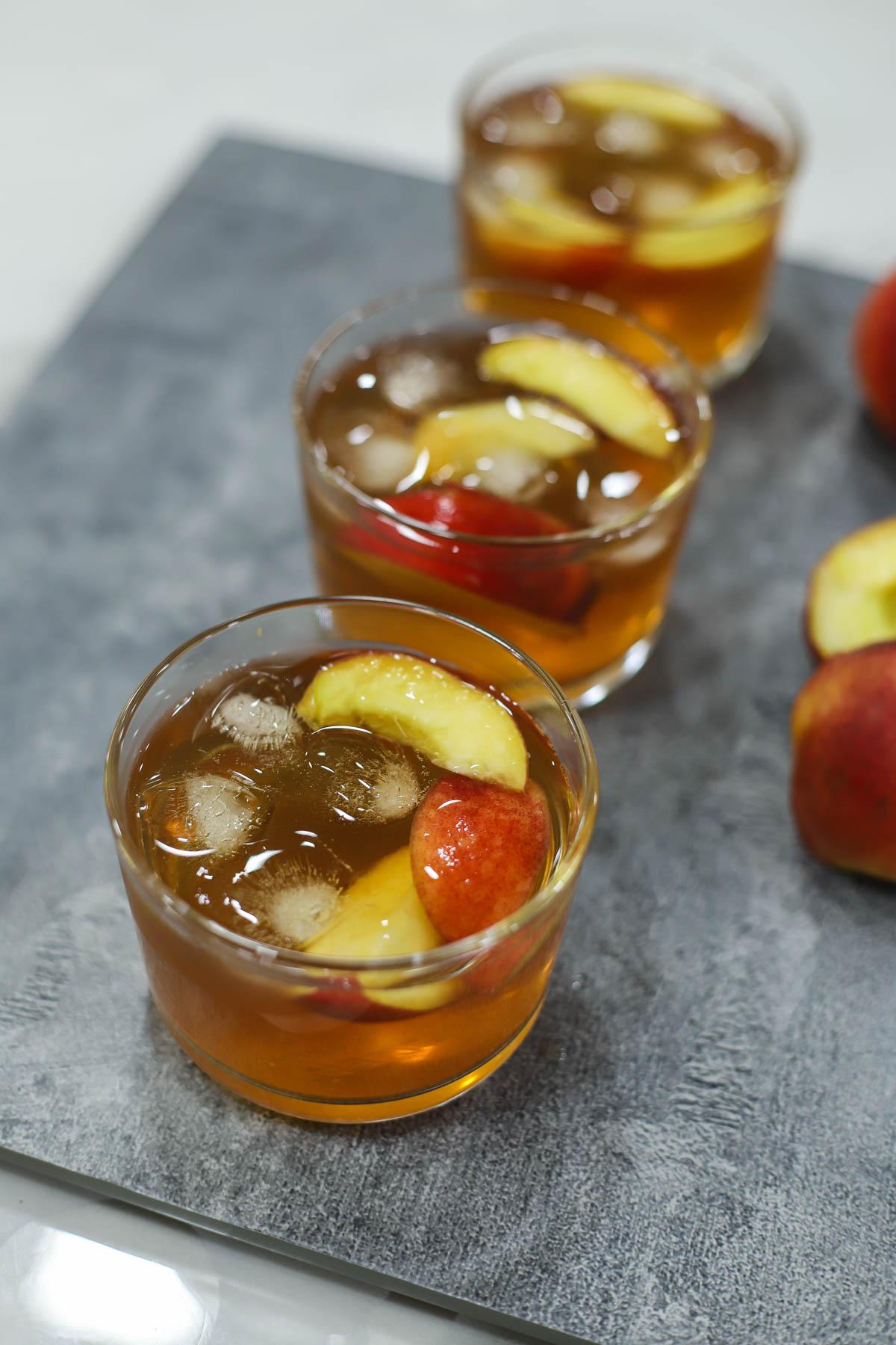 Delicious Peach Iced Tea