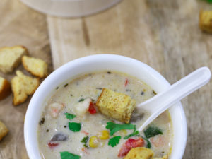20 Minute Prawn and Corn Chowder Recipe