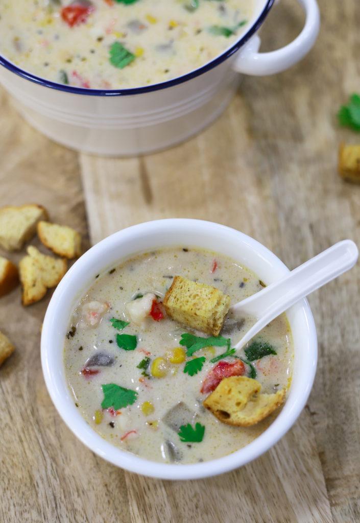 20 Minute Prawn and Corn Chowder Recipe