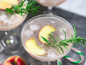 Sparkling Rosemary Peach Mocktail